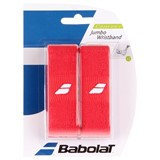 Babolat Wrist Bands Jumbo 2-Pack - Red