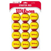 Wilson Starter Red - 12-Ball Polybag