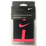 Nike Dri-Fit Stealth Doublewide Wristbands - Black/Pink