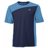 Wilson Mens Rush Colorblock Crew - Maritime Blue
