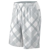 "Wilson Mens Stretch Woven 9"" Plaid Short - White"