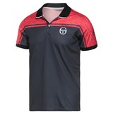 Sergio Tacchini Mens Blend Polo - Black/Red