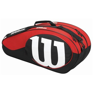 Wilson Match II 6-Pack Bag Black/Red