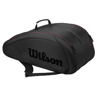 Wilson Federer Team 12 Pack Black/Red