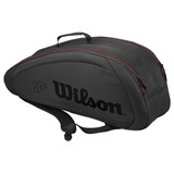 Wilson Federer Team 6 Pack Black/Red
