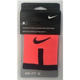 Nike Dri-Fit Stealth Doublewide Wristbands - Fluro Orange/Navy