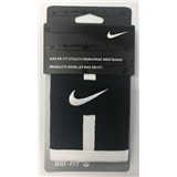 Nike Dri-Fit Stealth Doublewide Wristbands - Black/White