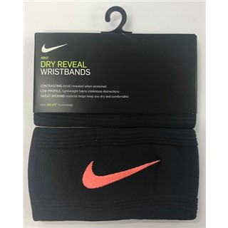 Nike Dry Reveal Wristbands - Black/Pink