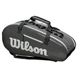 Wilson Super Tour 2 Comp Large 9PK Black/Grey
