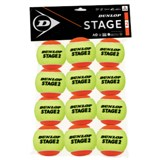 Dunlop Stage 2 Orange - 12-Ball Polybag