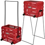 Tourna Ballport Deluxe with wheels - 80 balls - red