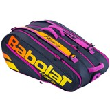 Babolat Racket Holder X12 Pure Aero Rafa - Black/Orange/Purple