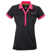 Tecnifibre Girls F3 X-Cool Polo Black/Pink