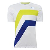 Head Mens Dive T-Shirt White/Blue/Lime