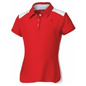 Wilson Girls Short Sleeve Polo Red