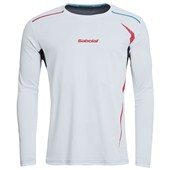 Babolat Mens Match Performance Long Sleeve Tee - White