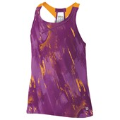 Wilson Girls SP Painted Print Mesh BF Tank - Dark Plumberry