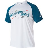 Asics Club Graphic Short Sleeve Tee - Real White