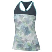 Wilson Ladies Flora Print Knot Tank - White/Coal