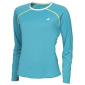 Babolat Ladies Core Long Sleeve Top - Petrol