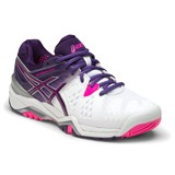 Asics Gel-Resolution 6 Women White/Purple/Pink
