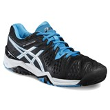 Asics Gel-Resolution 6 Men Black/Blue Jewel/White