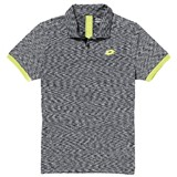Lotto Mens Space Polo - Black/Lime