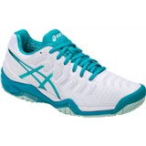 Asics Gel-Resolution 7 Women White/Aqua