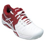 Asics Gel-Resolution 7 Novak Clay Red/White/Silver