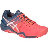 Asics Gel-Resolution 7 Women - Papaya/White/Blue