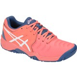 Asics Gel-Resolution 7 GS Girls Papaya/White