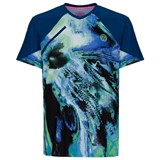 BidiBadu Tai Tech V-Neck Tee - Blue/Green