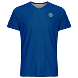 BidiBadu Boys Evin Tech Round Neck Tee - Blue/Neon Green