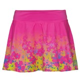 BidiBadu Girls Zina Tech Skort - Pink/Yellow/Turquoise