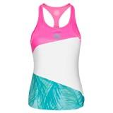 BidiBadu Girls Isalie Tech Tank - Pink/White/Mint