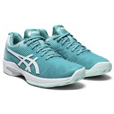 Asics Solution Speed FF Clay Women - Cyan/White