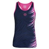 BidiBadu Girls Cleo Tech Tank - Dark Blue/Pink
